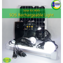 Solar LED Lighting, SOS Light, and Charging Portable Kit with Control Box